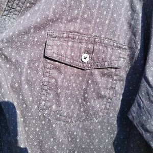 Sonoma Tops - Blue button-down with mini flowers